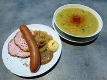 Erbseneintopf est l'une des spécialités du Stube